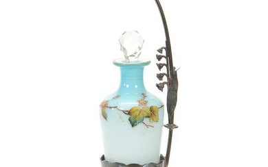 Modified Victorian Art Glass Cologne on Stand