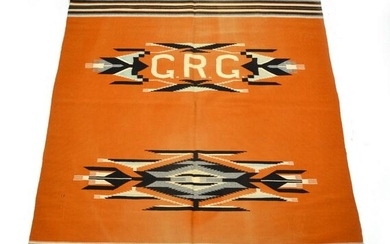 """Native American Blanket with the initials """"CRG"""""""