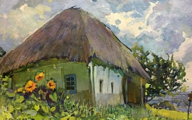 Oil painting Old house in Poltava Kolesnik Boris
