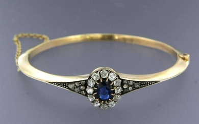Old Dutch bracelet with sapphire and diamonds
