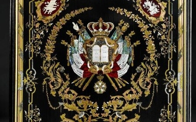 PANEL WITH THE ARMS OF FRANCE OF THE LOUIS-PHILIPPE PERIOD