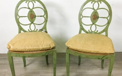 Pair of Paint Decorated Chairs
