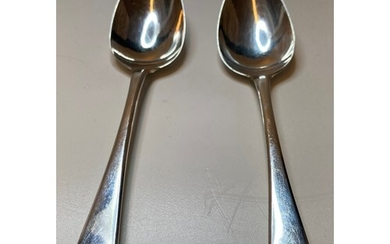Pair of Silver George III Dessert Spoons, excellent conditio...