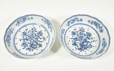Pair of strawberry plants in Chinese porcelain 118th...