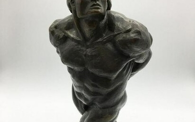 Patinated Bronze Figure of a Man