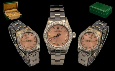 Rolex - Ladies Steel Oyster Perpetual Wrist Watch, with Afte...