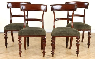 SET 4 REGENCY STYLE MAHOGANY DINING CHAIRS C.1830