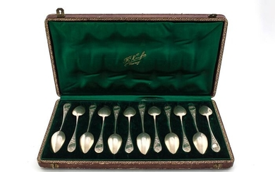 Spoon (12) - .950 silver - Andre Kauffer - France - Late 19th century