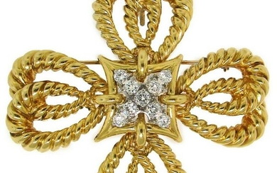 TIFFANY & Co. Maltese Cross PENDANT PIN BROOCH CLIP