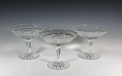 Three Waterford Glandore Crystal Compotes