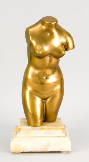 Torso of Venus, cast brass from the 20th...