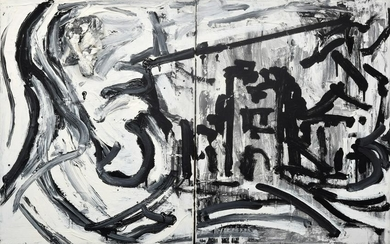 Troels Woersel Abstract Painting (Diptych)