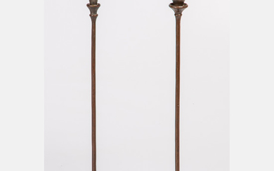 Two Tiffany & Co. Bronze Candlesticks