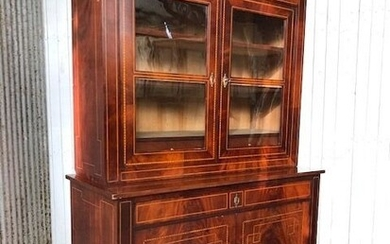 Ux deux corps, with glass curb, display case - Louis XVI Style - Mahogany - 19th century