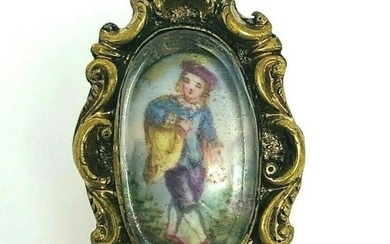 VICTORIAN Yellow Gold Painted Boy Prince Ring