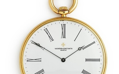 Vacheron Constantin: Pocket watch of 18k gold, ref. 59001. Mechanical movement with manual winding, Cal. 1015. 1980.
