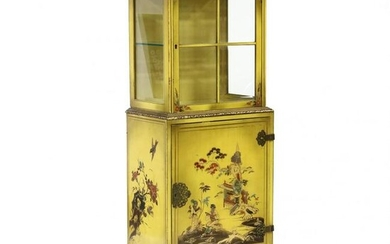 Vintage Chinoiserie Painted Diminutive Cabinet