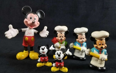 Vintage Disney Mickey Mouse Lot Of Six