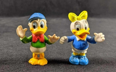 Vintage Disney PVC Donald And Daisy Duck Figures