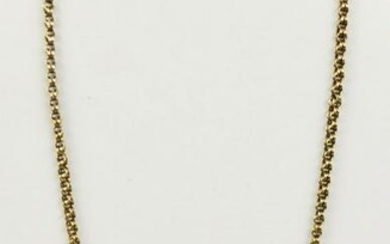 """Well Made 17.75"""" Long 14k Gold Chain"""