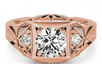 0.60 ctw VS/SI Diamond Solitaire Ring 14K Rose Gold