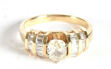 14k Gold Ring W/ Diamonds, 1.49ct