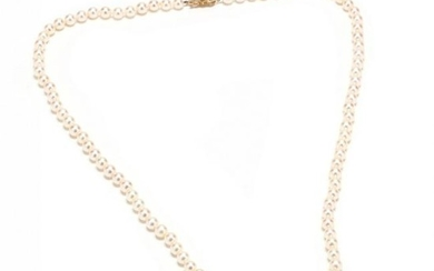 18KT Gold and Pearl Necklace, Mikimoto
