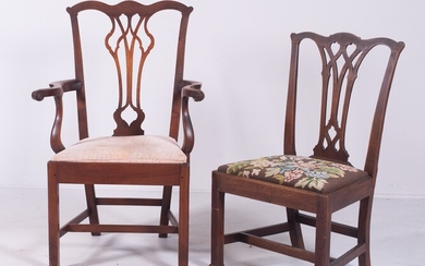 (2) Mahogany Chippendale Chairs, 18th c