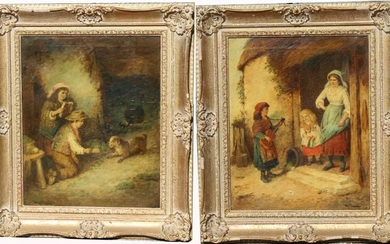 (2) Signed 19th C. European Paintings of Children