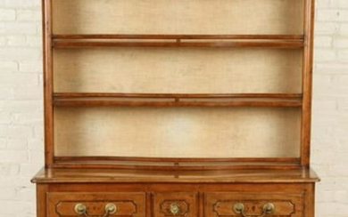 18TH CENTURY 2-PIECE FRENCH HUTCH OPEN TOP