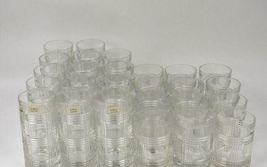26 Ralph Lauren Glen Plaid Lead Crystal Glasses
