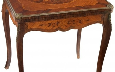 28004: A French Louis XV-Style Marquetry-Inlaid and Bro