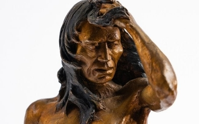"""Dave McGary """"Before The Storm"""" Bronze American Indian"""