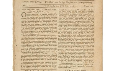 Revolutionary War Newspaper Recruiting Pennsylvanians
