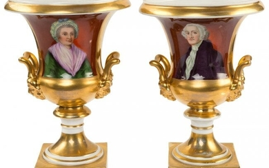 43004: George and Martha Washington: A Lovely Pair of 1