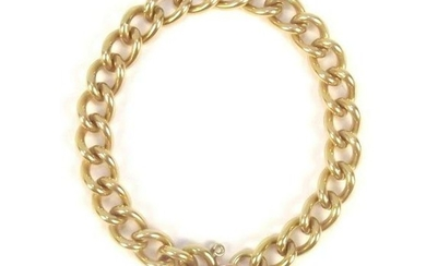 """9ct Yellow Gold Chain with Lock Pendant 7 ¼"""""""