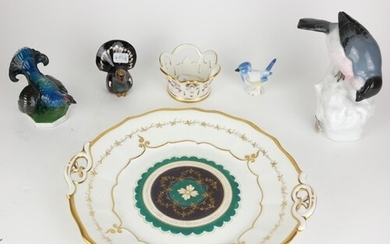 A COLLECTION OF 19TH CENTURY AND LATER CONTINENTAL PORCELAIN...