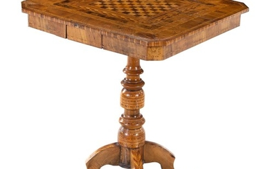 A Continental Parquetry Game Table