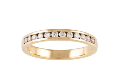 A DIAMOND HALF ETERNITY RING, cannel set with brilliant cut ...