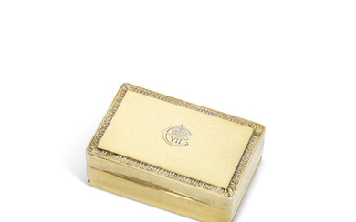 A FRENCH SILVER-GILT SNUFF-BOX, STAMP OF TONNEL, PARIS, EARLY 20TH CENTURY
