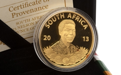 A GOLD NELSON MANDELA GOLD COIN