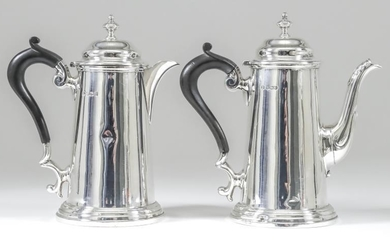 A George V Small Silver Coffee Pot and Matching...