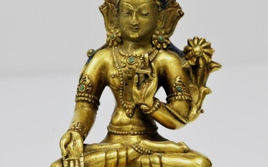 A Gilt Bronze Figure of White Tara, Tibet 16th Century.