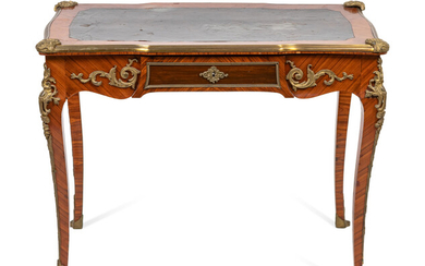 A Louis XV Style Bronze-Mounted Rosewood Table à Ecrire