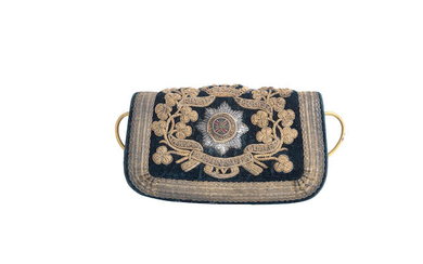 A Rare Officer's Embroidered Flap Pouch To The 4th Royal Irish Dragoon Guards, Circa 1830-52