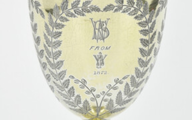 A VICTORIAN STERLING SILVER GOBLET