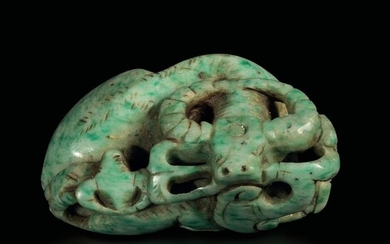 A carved jade ox, China, Qing Dynasty