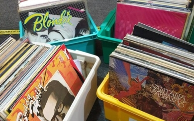 A collection of 1980s rock, pop rock and progressive rock LP...