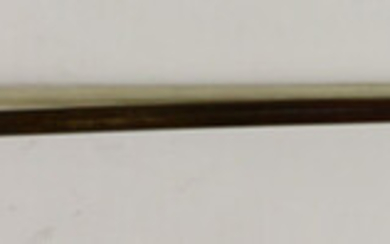 A silver mounted violin bow
