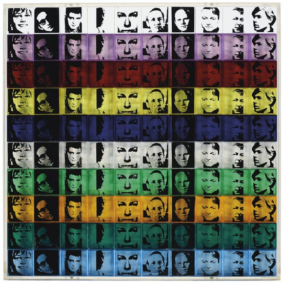 ANDY WARHOL (1928-1987), Portraits of the Artists, from Ten from Leo Castelli